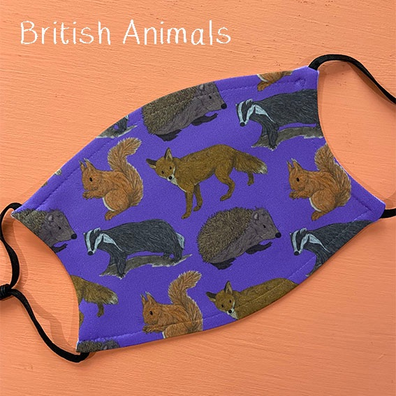 british animals mask
