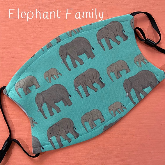 elephant family mask
