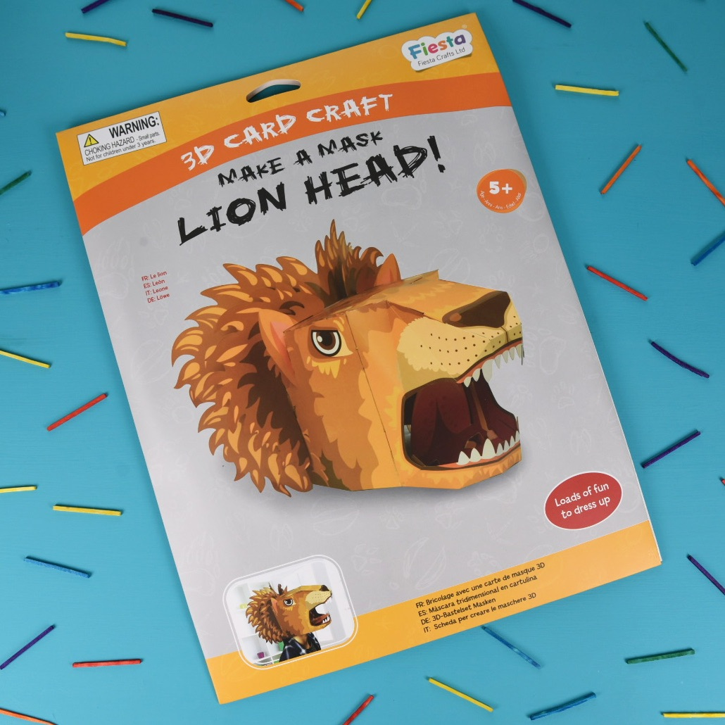 Lion 3D Card Mask