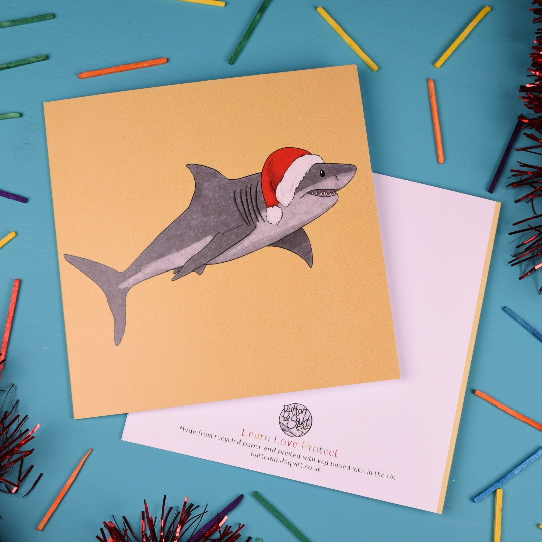 Great White Shark Christmas Card