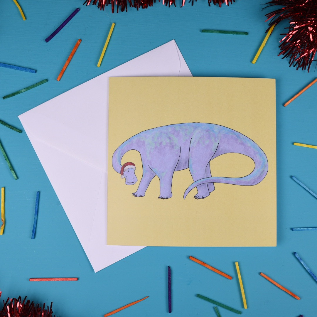 Nigersaurus Christmas Card