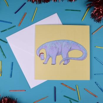 Nigersaurus Christmas Card