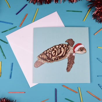 Hawksbill Turtle Christmas Card