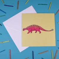Ankylosaurus Greetings Card