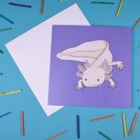 Axolotl Greetings Card