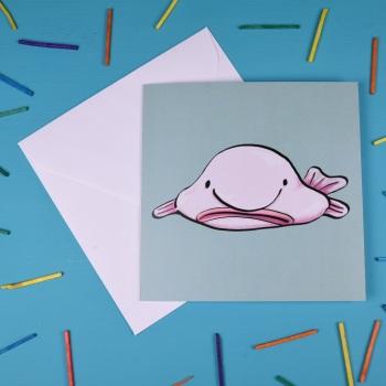 Blobfish Greetings Card