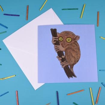 Tarsier Greetings Card