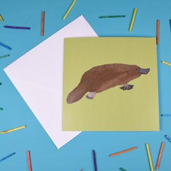 Platypus Greetings Card