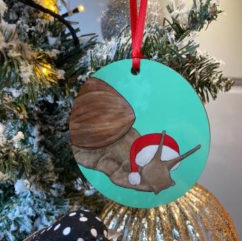 Giant Land Snail Christmas Decoration