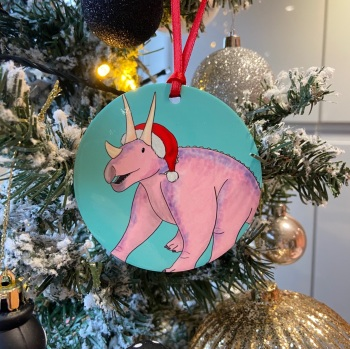 Triceratops Christmas Decoration