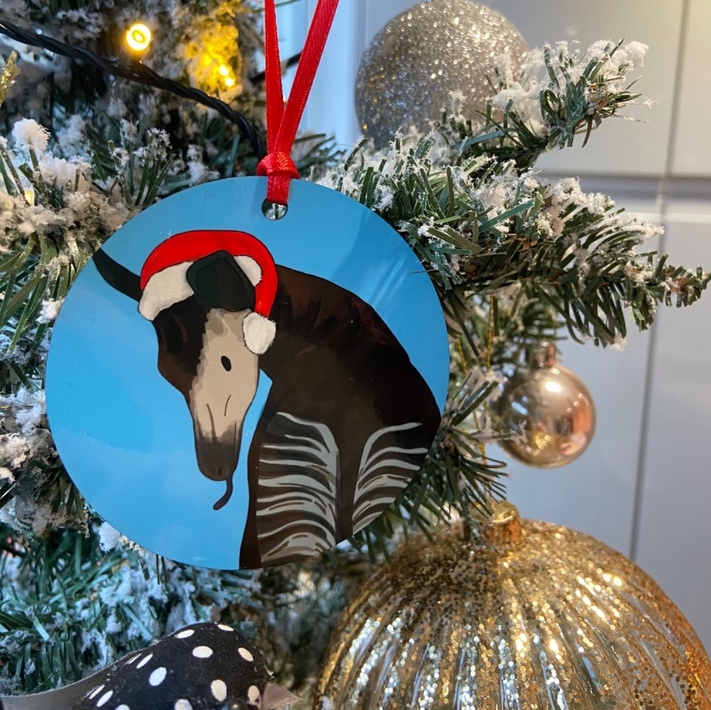 Okapi Christmas decoration