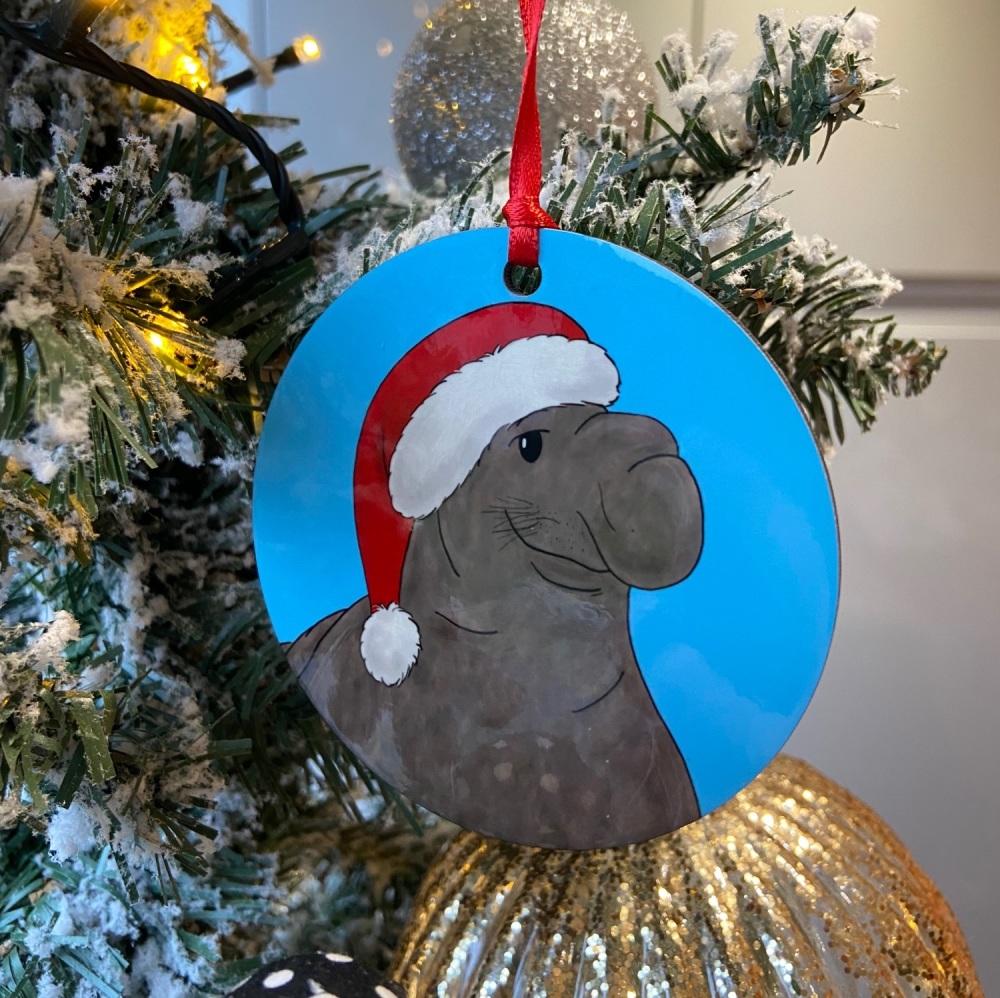 Elephant Seal Christmas Decoration