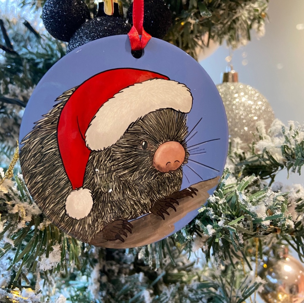 Prehensile Tailed Porcupine Christmas Decoration