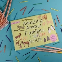Amazing Animal Families Colouring Book