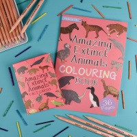 Amazing Extinct Animals Fact Cards and Colouring Book