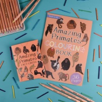 Amazing Primates Fact Cards and Colouring Book