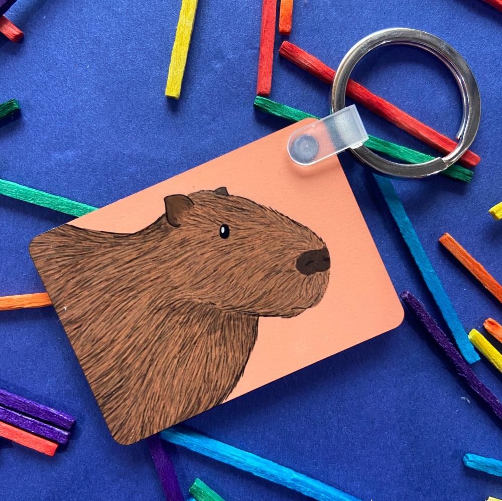Capybara Keyring