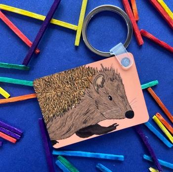 Hedgehog Keyring