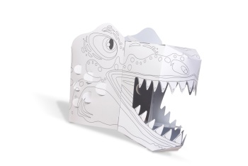 Colour in T-Rex 3D Card Mask
