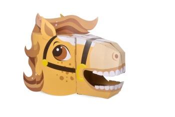Horse 3D Card Mask