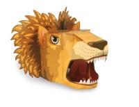 Lion 3D Card Mask