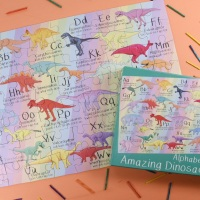 Alphabet of Amazing Dinosaurs 63 Piece Puzzle