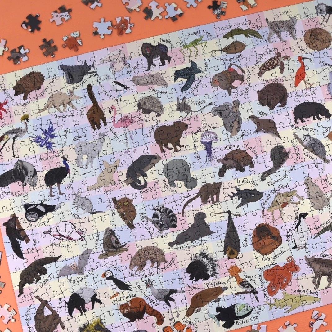 Amazing Animals 500 Piece Puzzle