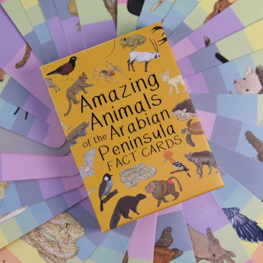 Preorder - Amazing Animals of the Arabian Peninsula Fact Cards