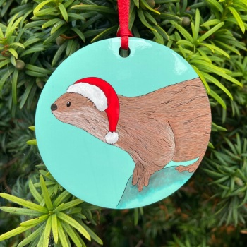Otter Christmas Decoration