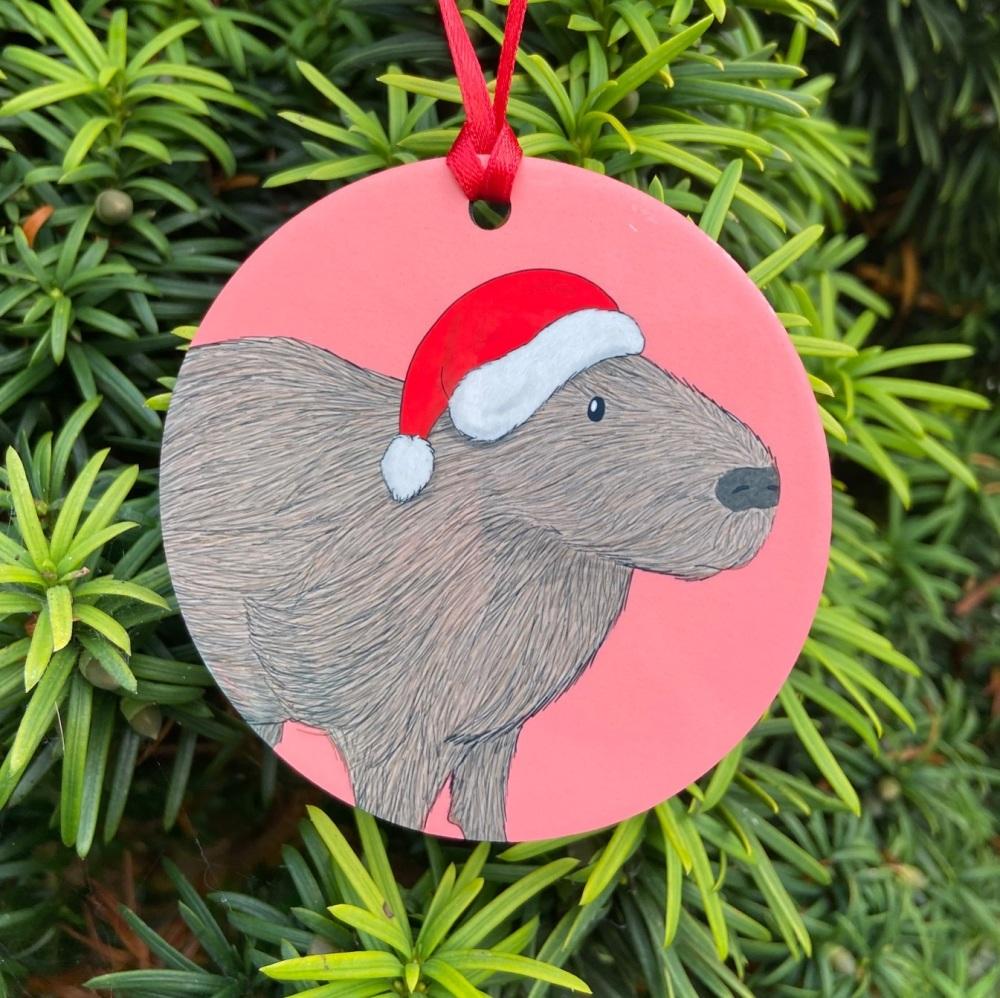 Capybara Christmas Decoration