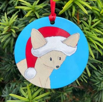 Fennec Fox Christmas Decoration