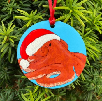Giant pacific Octopus Christmas Decoration