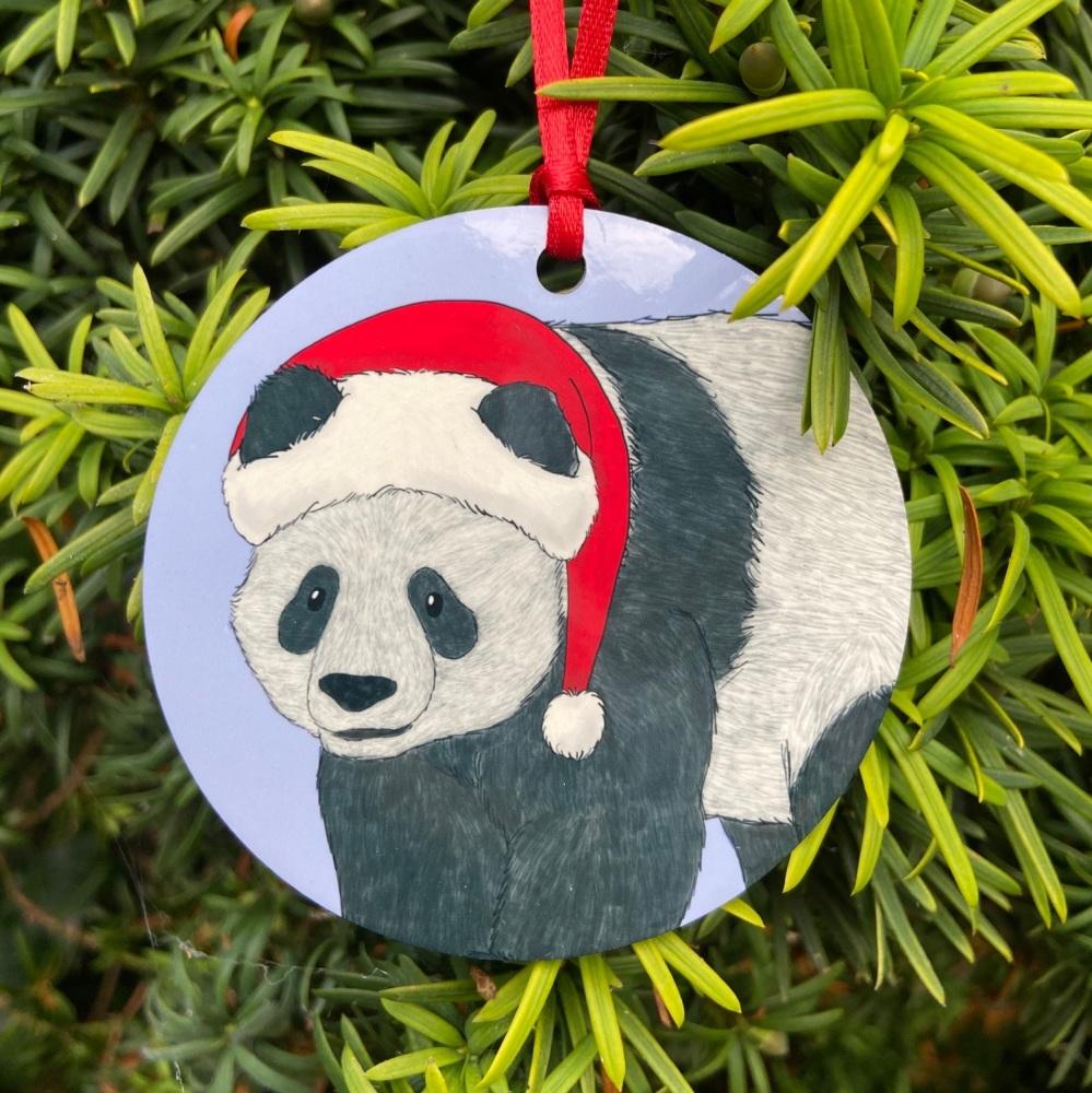 Giant Panda Christmas Decoration