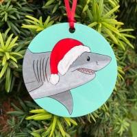 Great White Shark Christmas Decoration