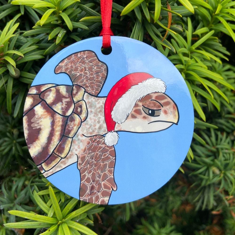 Hawksbill Turtle Christmas Decoration