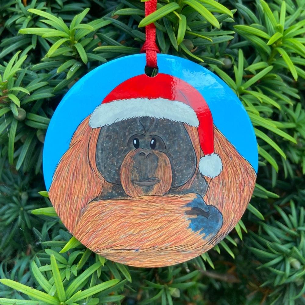 Orangutan Christmas Decoration