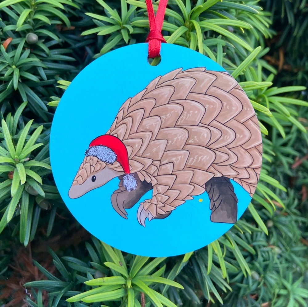 Pangolin Christmas Decoration