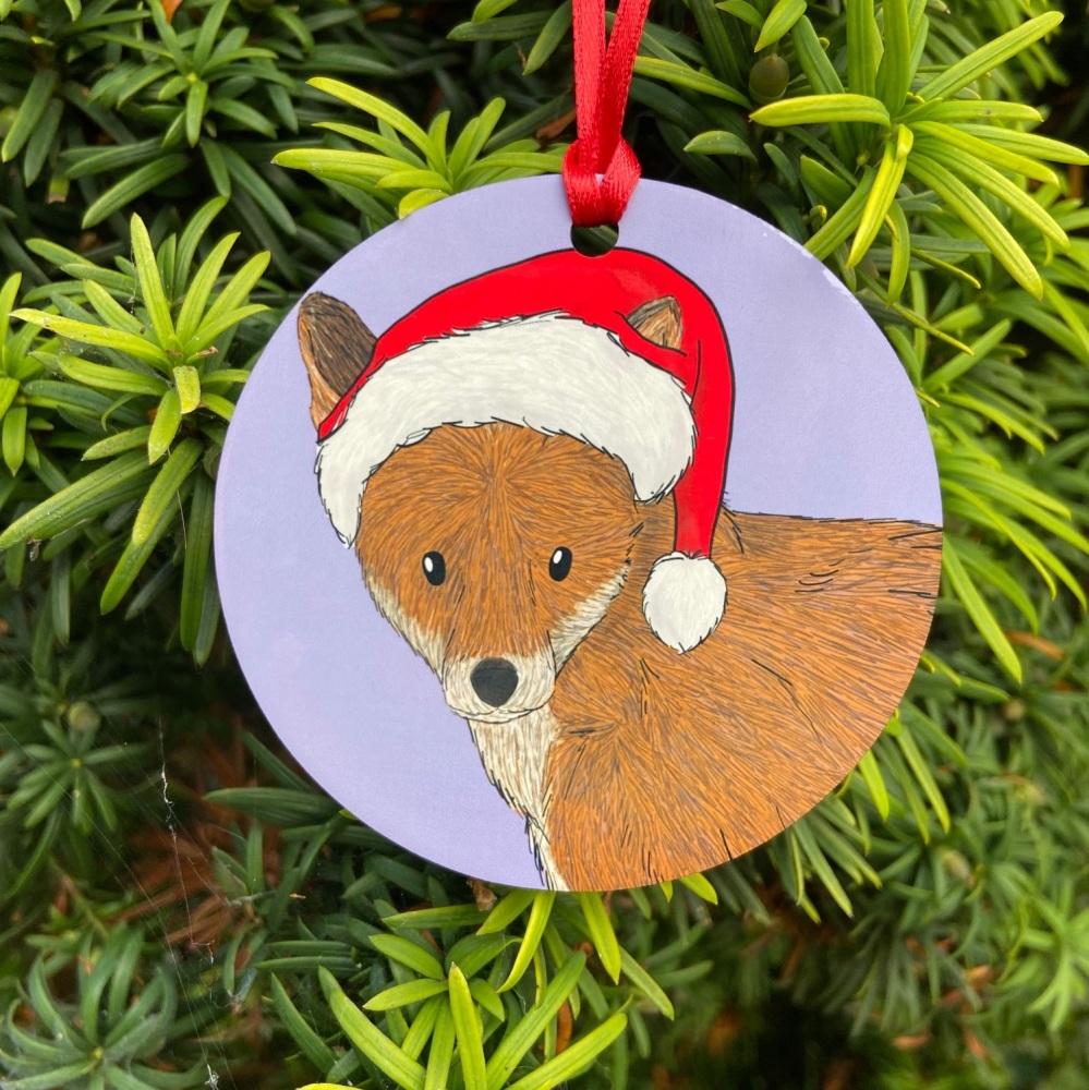 Red Fox Christmas Decoration