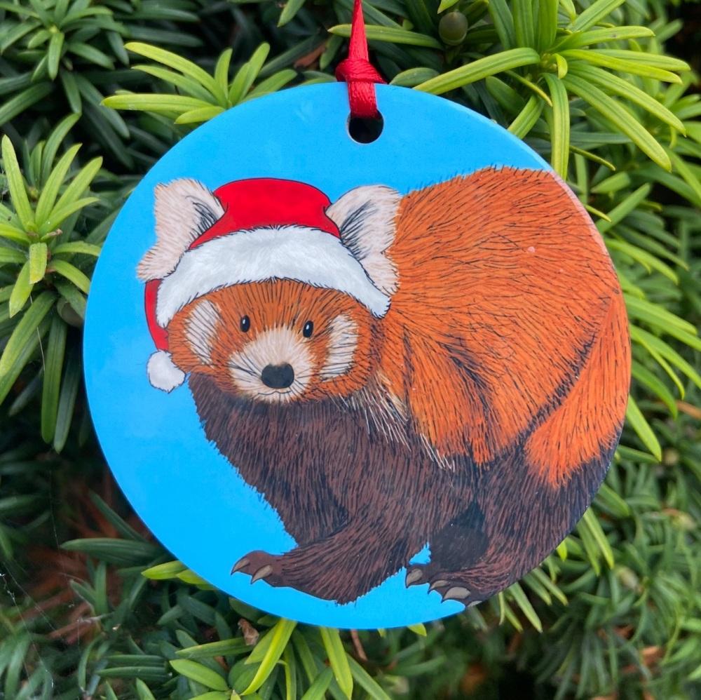 Red Panda Christmas Decoration