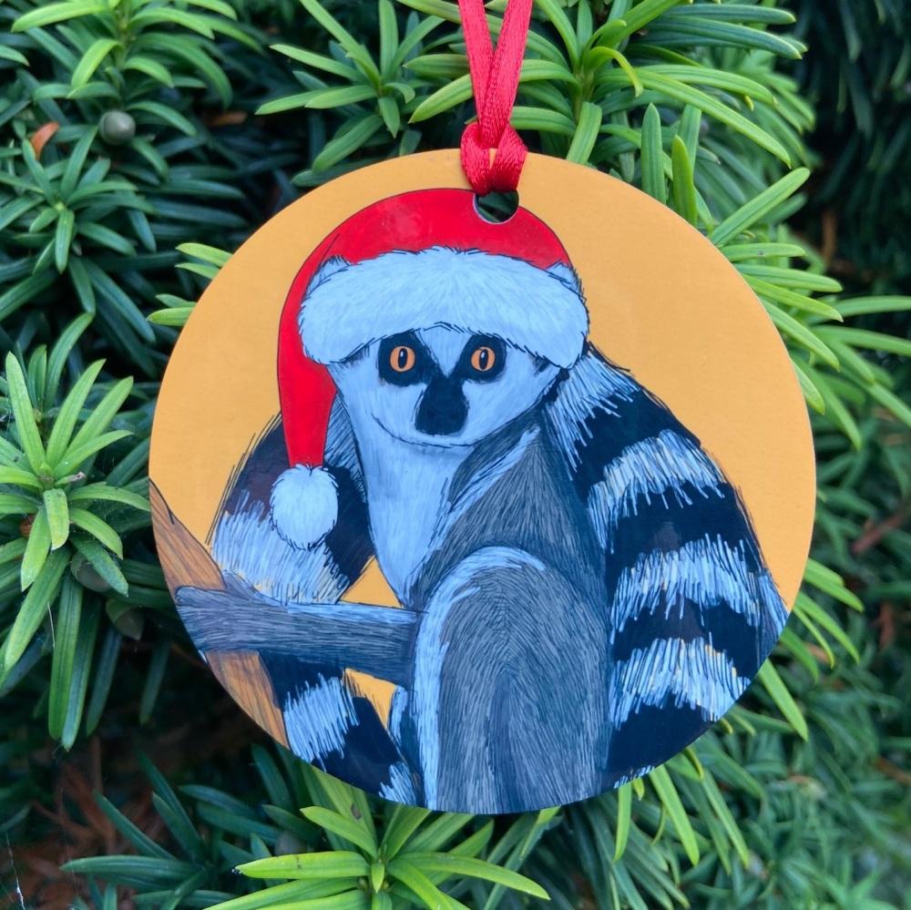 Ringtail Lemur Christmas Decoration