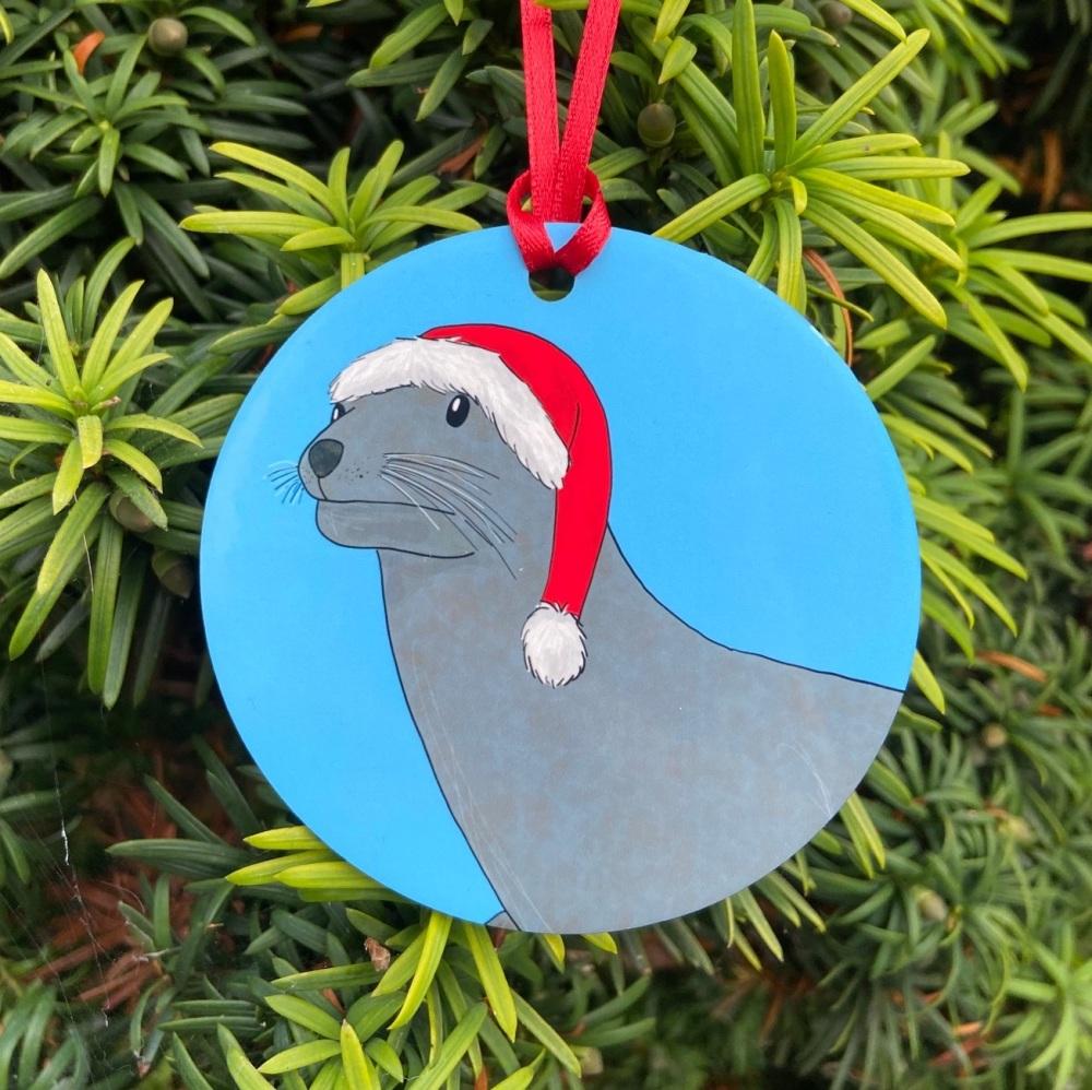 Sea Lion Christmas Decoration