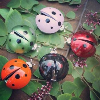 Ladybird Car Freshener - Red