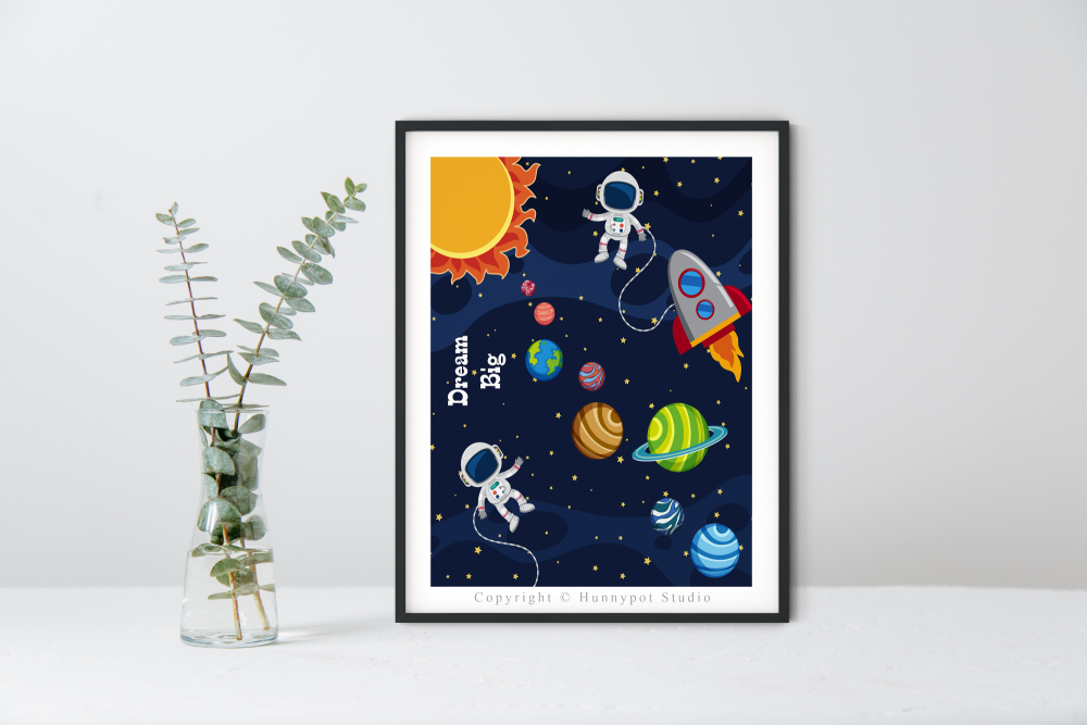Space Quote Print