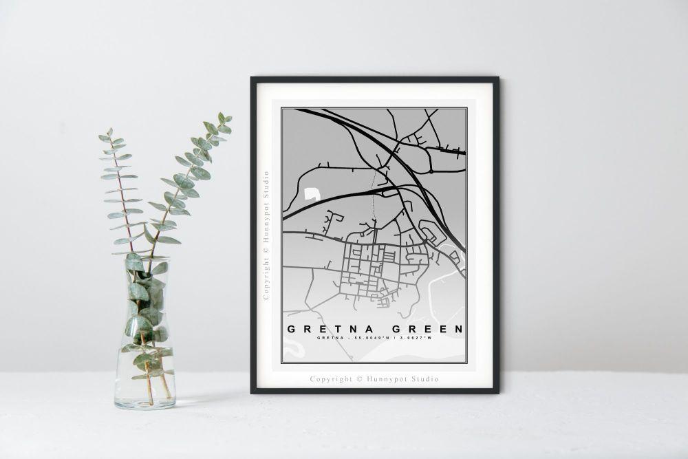Gretna Green Map Print