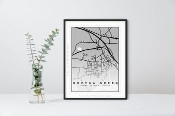 Gretna Green Map Print