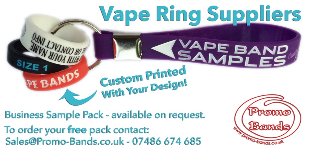 vape band sample pack - by www.promo-bands.co.uk