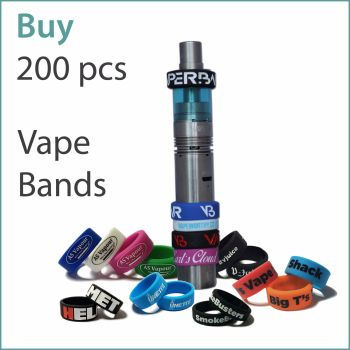 A1) Custom Vape Bands x 200 pcs