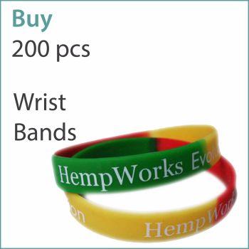 E1) Custom Silicone Wristbands x 200 pcs