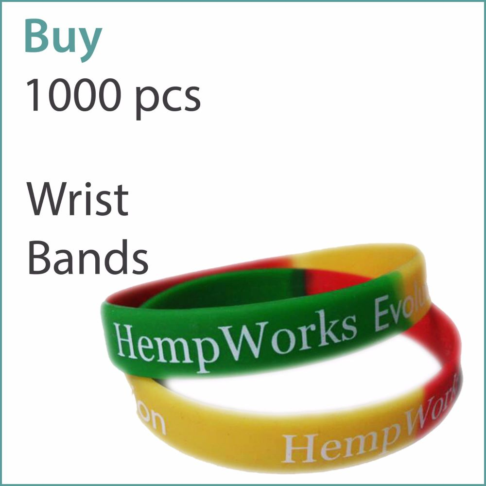 D3) Custom Silicone Wristbands x 1000 pcs