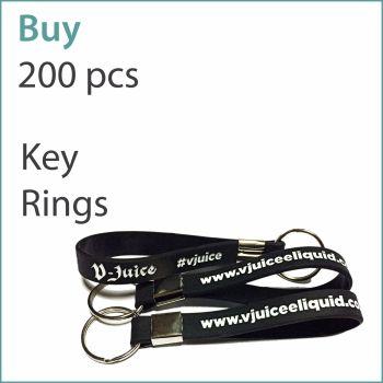 D1) Custom Silicone Keyrings x 200 pcs